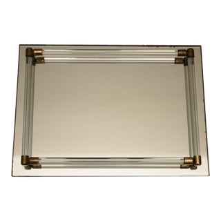 Glass Mirrored Vanity Tray