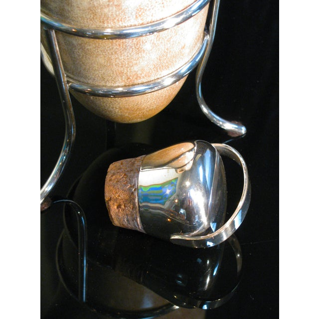 Aldo Tura Lacquered Goatskin Carafe on Stand - Image 6 of 8