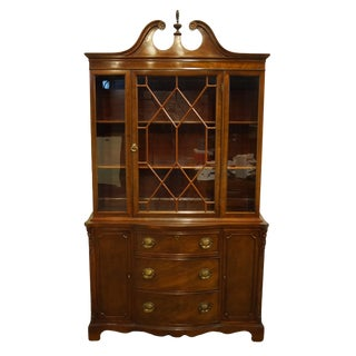 1960's Duncan Phyfe Mahogany China Cabinet For Sale