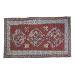 "Caucasian Triple Shadow Rug - 4'3"" X 6'11"" For Sale"