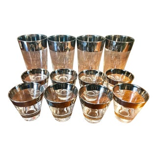 Dorothy Thorpe Cocktail Glass Set - 12 Cups For Sale