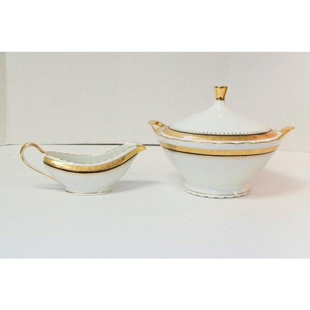 Vintage French Porcelain Dinner Set - Set of 42 For Sale - Image 10 of 10