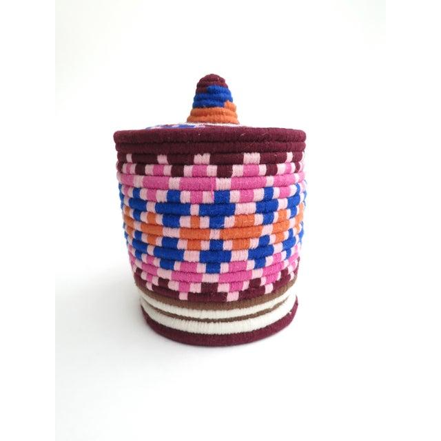 Pink & Blue Moroccan Bread Basket - Image 3 of 4