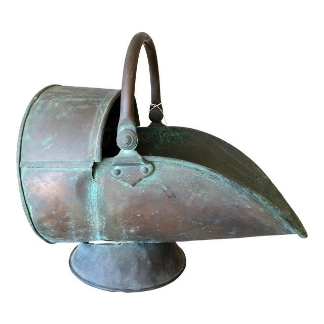 20th Century Antique Copper Coal Bucket For Sale
