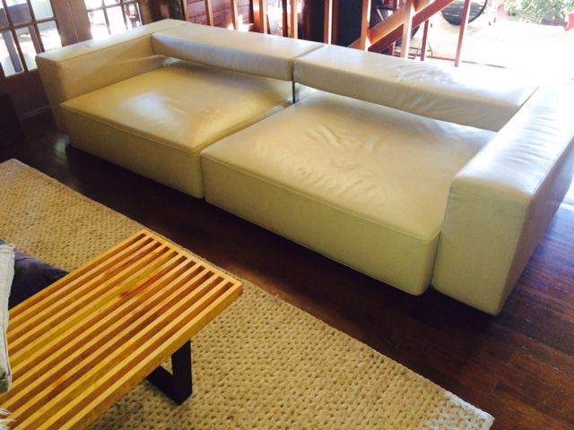 Delicieux The Iconic Bu0026B Italia Andy Sofa In Beautiful Cream Leather. This Piece Is Top  Of