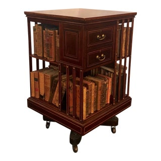 Antique English Edwardian Revolving Book-Stand, Circa 1880-1890. For Sale