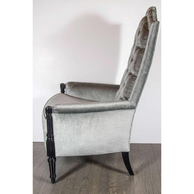 Pair of Mid-Century Modernist Occasional Chairs in the Manner of James Mont For Sale In New York - Image 6 of 8