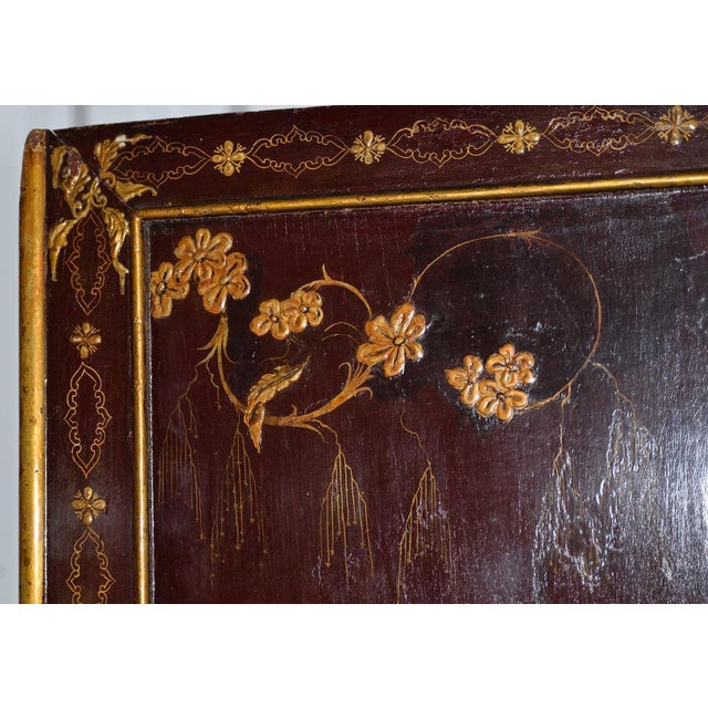 Gold 18th to 19th Century Chinese Hand Painted Door Panels - a Pair For Sale - Image 8 of 12