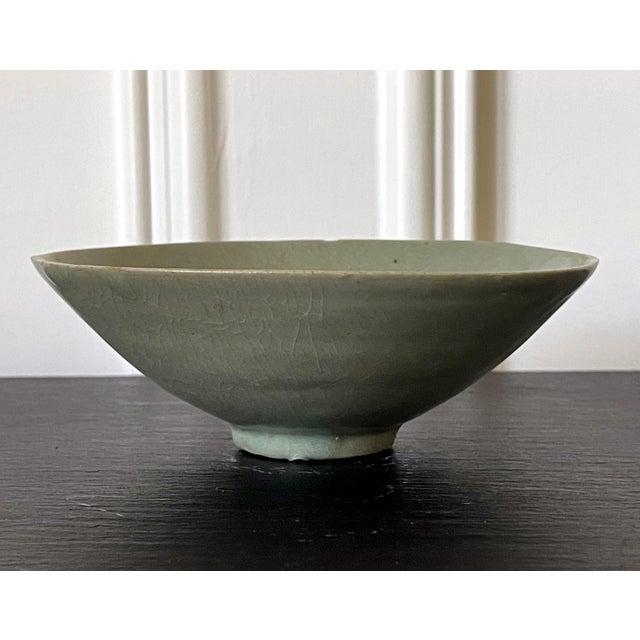 Ceramic Celadon Ceramic Tea Bowl Korean Goryeo Dynasty For Sale - Image 7 of 13