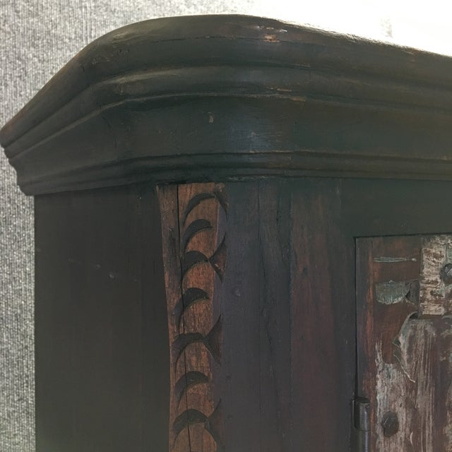 Handcrafted Tall Wooden Armoire by Buena Vista - Image 5 of 11