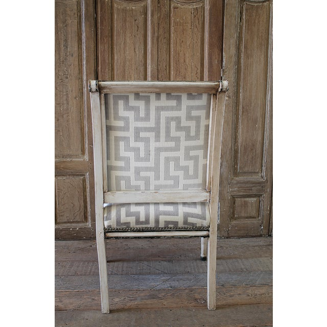 19th Century Neoclassical Style Chair With Velvet Upholstery For Sale In Los Angeles - Image 6 of 8