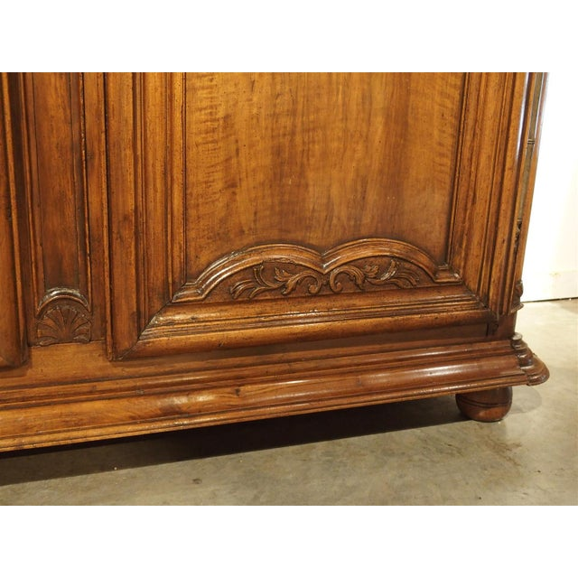 """Early 1700's French Walnut Wood Chateau Armoire, """"The Order of Saint Louis"""" For Sale In Dallas - Image 6 of 11"""