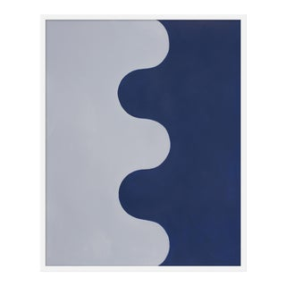 "Medium ""Hairpin Serpentine in Gray & Blue"" Print by Stephanie Henderson, 32"" X 40"""