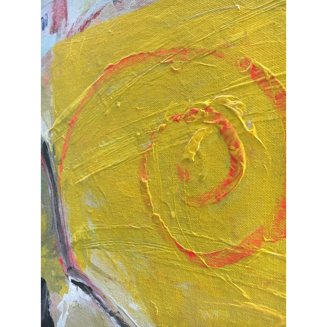 Abstract Expressionist Whimsical Painting on Canvas For Sale In Miami - Image 6 of 9