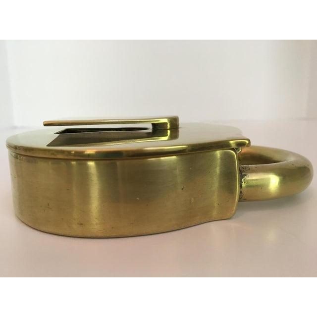 Brass Rare - Mid-Century Virginia Metalcrafters Solid Brass Padlock Box For Sale - Image 8 of 13