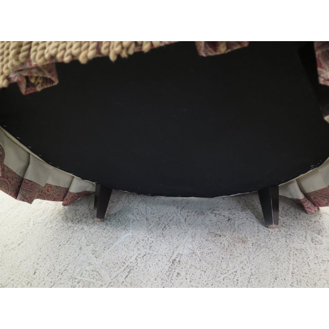 Century Round Tufted Upholstered Large Ottoman For Sale In Philadelphia - Image 6 of 8