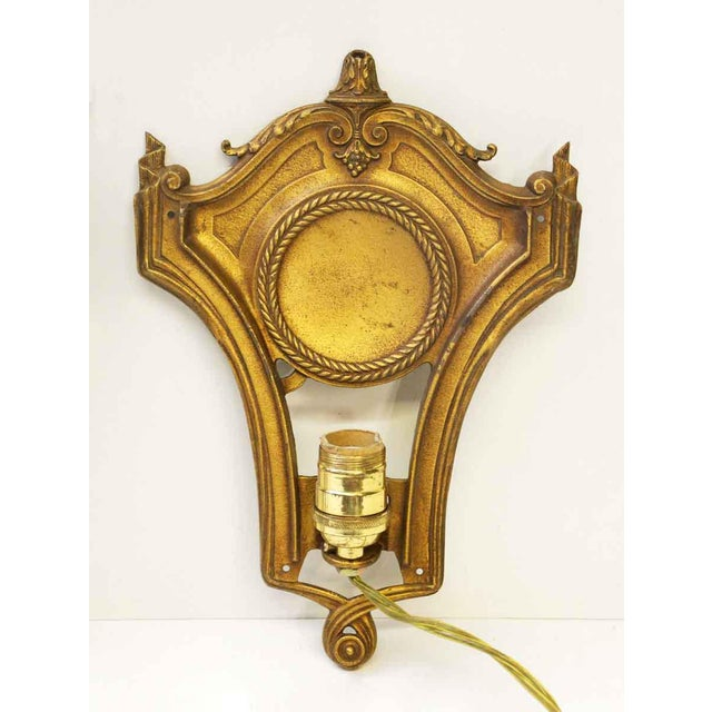 Federal Style Gold Sconces - A Pair For Sale - Image 5 of 9