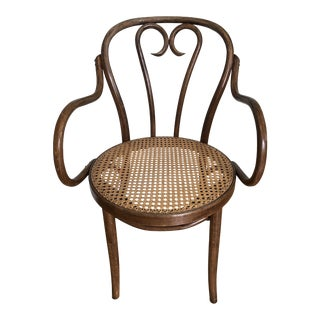 Vintage Thonet Style Bentwood Armchair For Sale