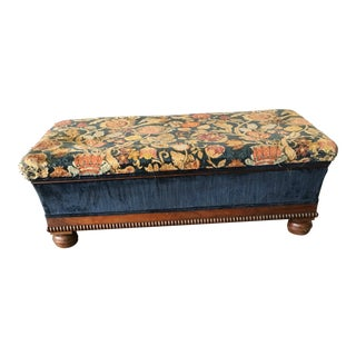 European Upholstered Blanket Chest For Sale