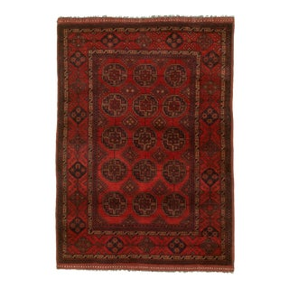 """Hand-Knotted Afghan Tribal Rug- 3'3"""" X 4'10"""" For Sale"""