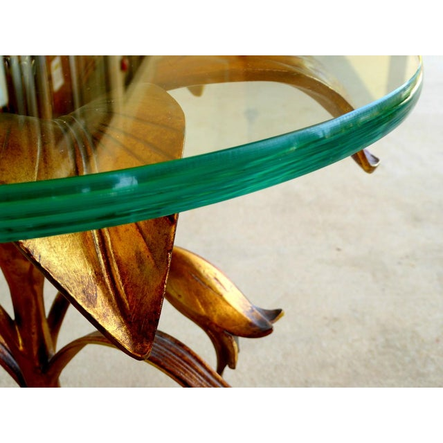 Mid-Century Modern Arthur Court Style Lily Table For Sale - Image 3 of 6
