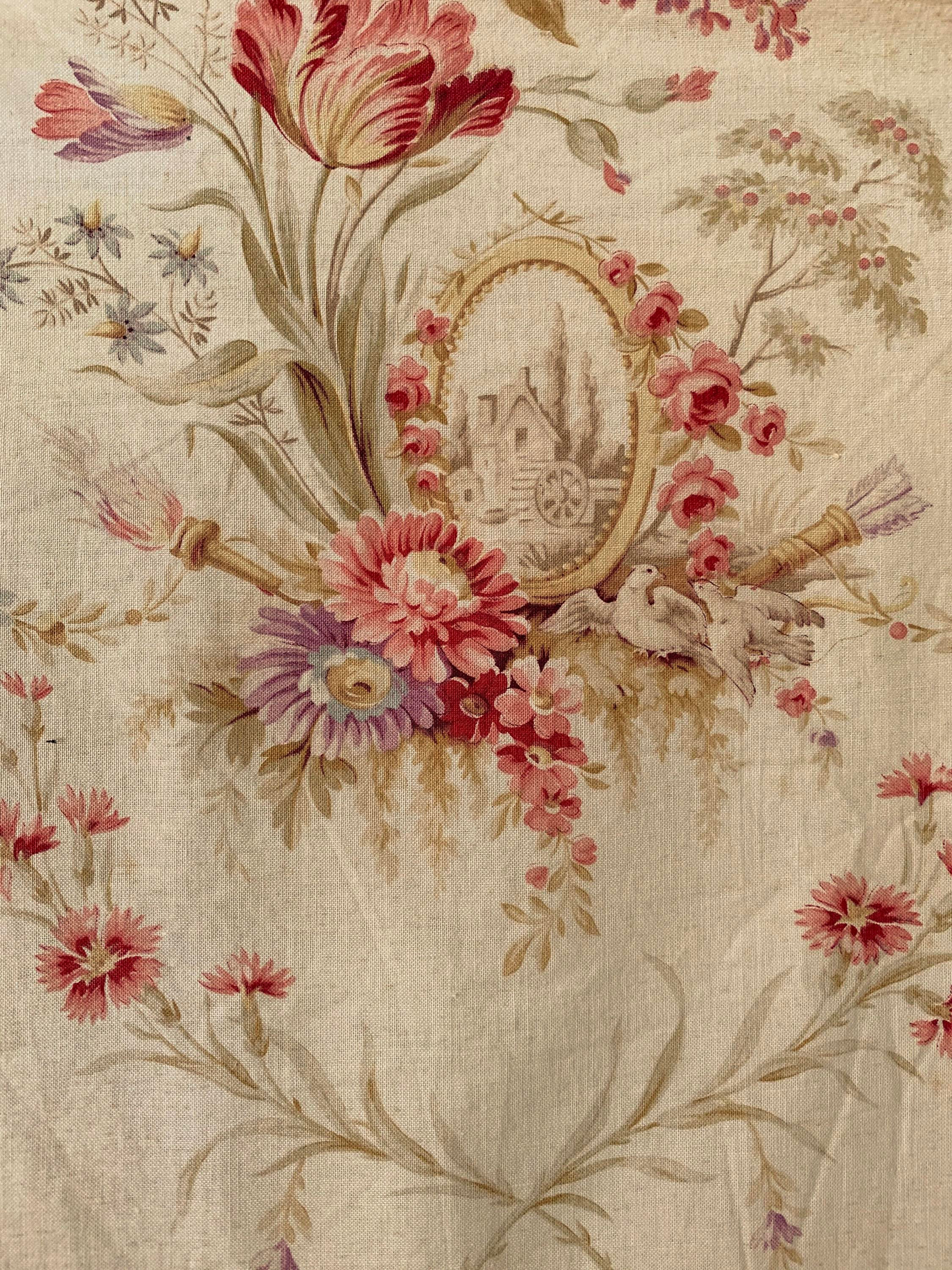 Gorgeous French fabric piece.