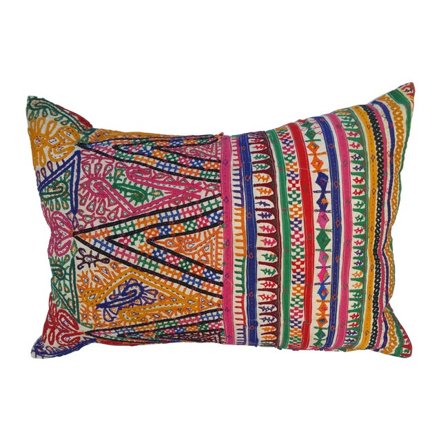 Rajasthani Embroidered Camel Sack Pillow For Sale