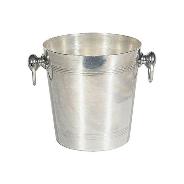 Mid 20th Century French Champagne Ice Bucket W/ Handles For Sale - Image 5 of 8