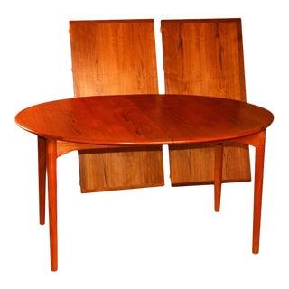 Mid Century Erik Buck for Povl Dinesen Danish Teak Extendable Dining Table For Sale