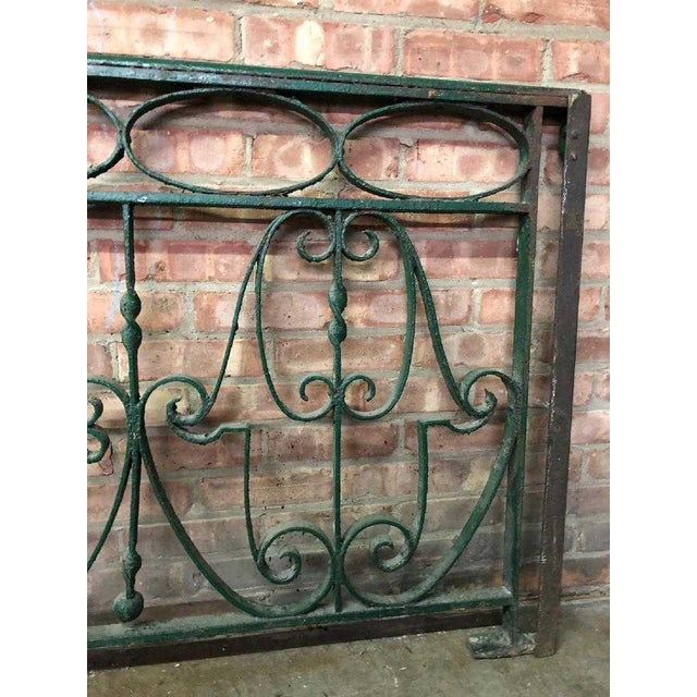 Late 19th Century Late 19th Century Decorative Wrought Iron Balustrade/Railing For Sale - Image 5 of 8