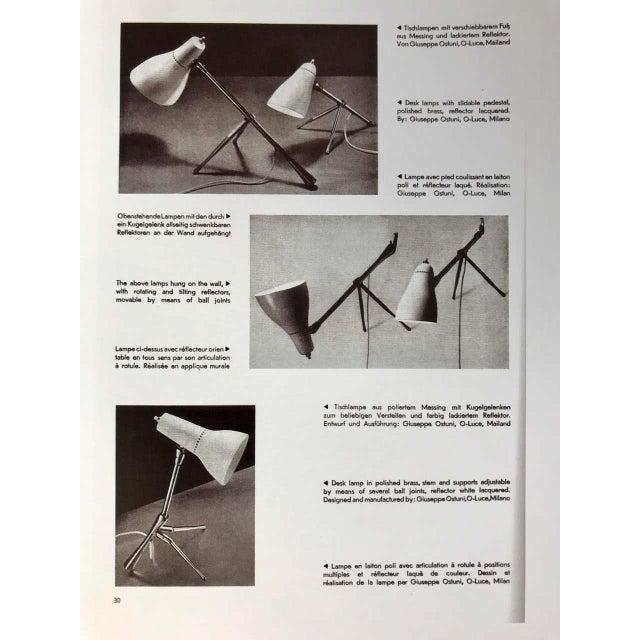 "O-Luce 1950s Giuseppe Ostuni ""Ochetta"" Wall or Table Lamp for O-Luce For Sale - Image 4 of 13"
