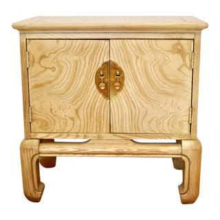 Lane Asian Wood Grain Cabinet Nightstand For Sale