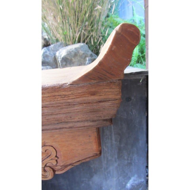 Teak Pagoda Style Console Table - Image 4 of 8