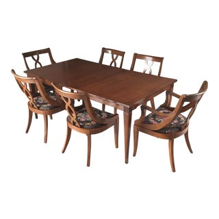 1950's Bernhardt Dining Table & Chairs - Set of 9