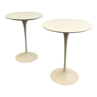 Pair of Saarinen Tulip Tables For Sale