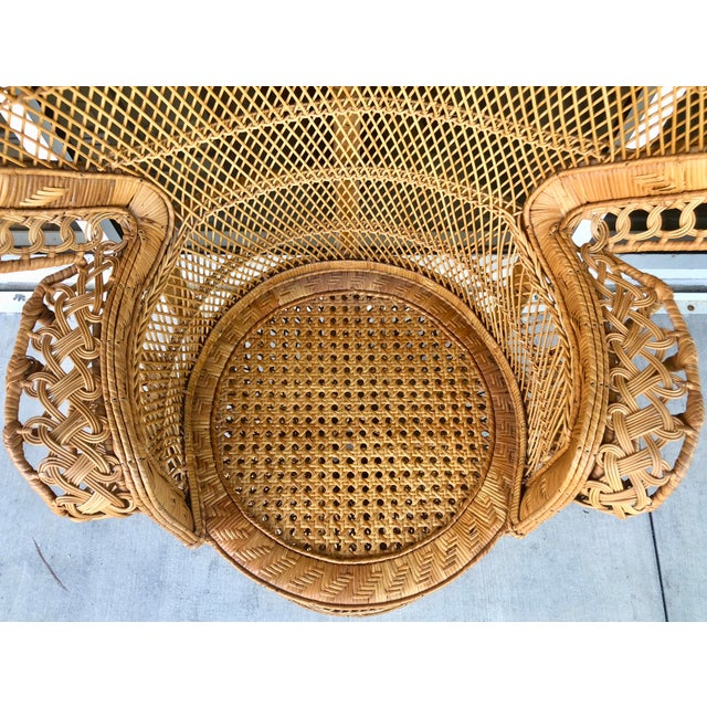 Vintage Rattan Peacock Chair For Sale - Image 9 of 11
