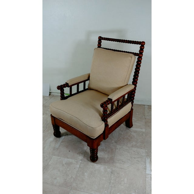1980s Robert Scott Walnut Accent Chair For Sale - Image 5 of 11