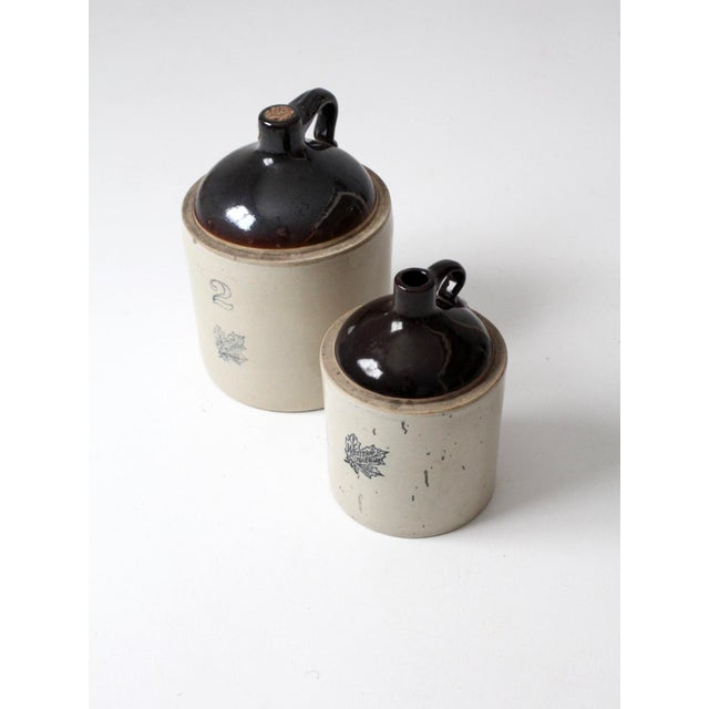 Blue Antique Western Stoneware Jugs - A Pair For Sale - Image 8 of 9