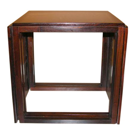 Danish Rosewood Cube of Nesting Tables - Set of 3 For Sale