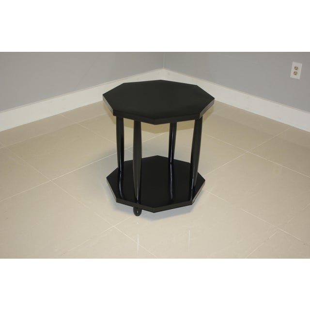 1940s French Art Deco Black Ebonized Coffee/Side Table For Sale In Miami - Image 6 of 13