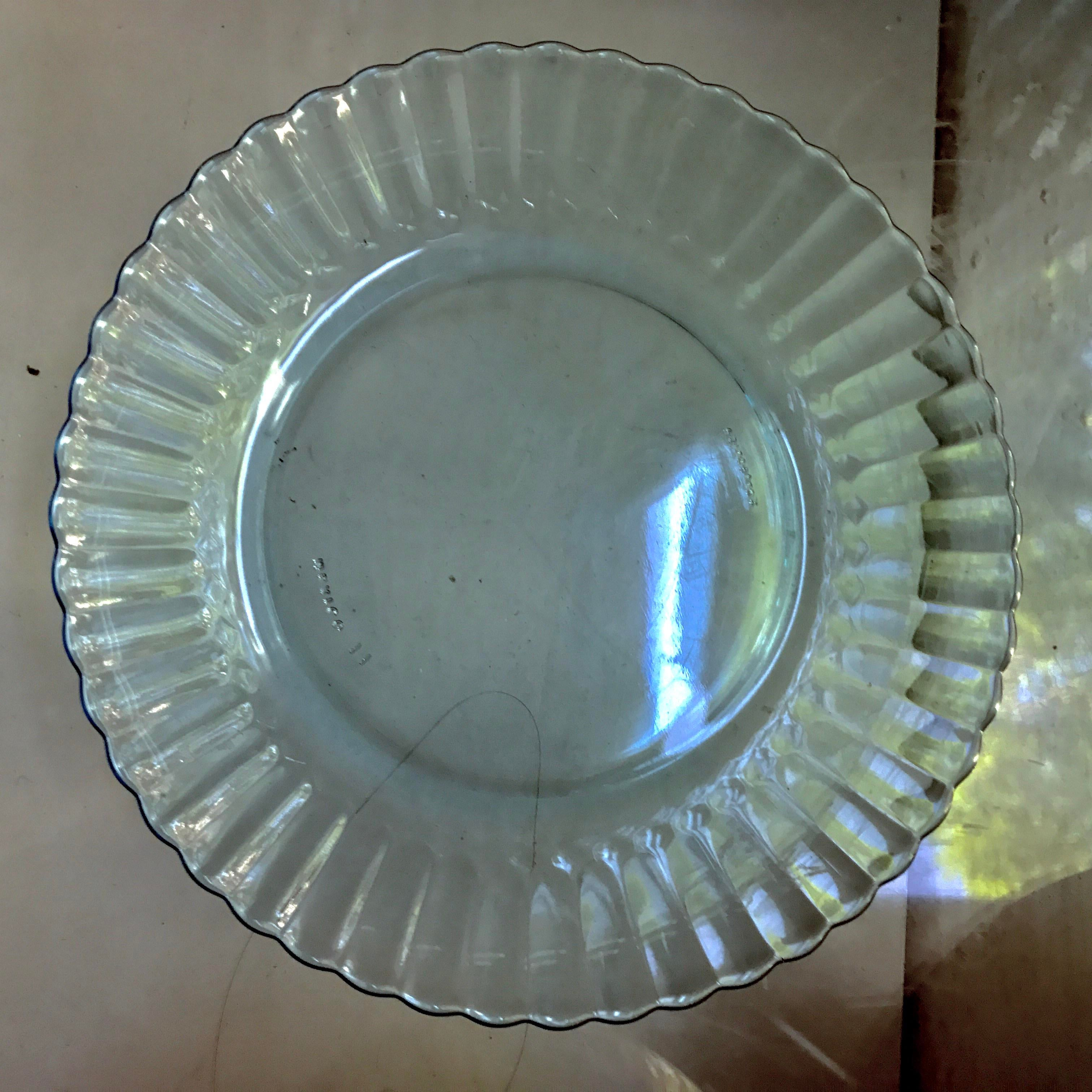 Vintage Ice Blue Fortecrisa Mexican Saucers u0026 Dessert Plates - Set of 12 - Image 11 & Vintage Ice Blue Fortecrisa Mexican Saucers u0026 Dessert Plates - Set ...