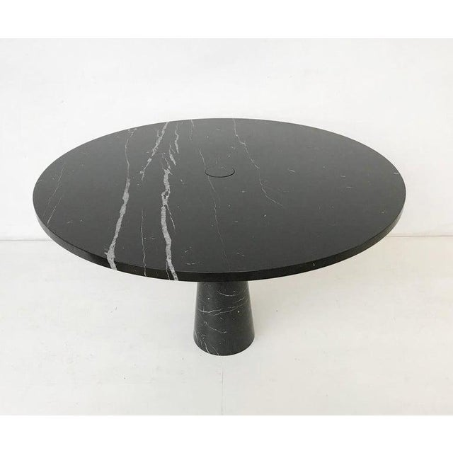 Dining Table in Black Marble Model 'Eros' by Angelo Mangiarotti, Italy, 1970s