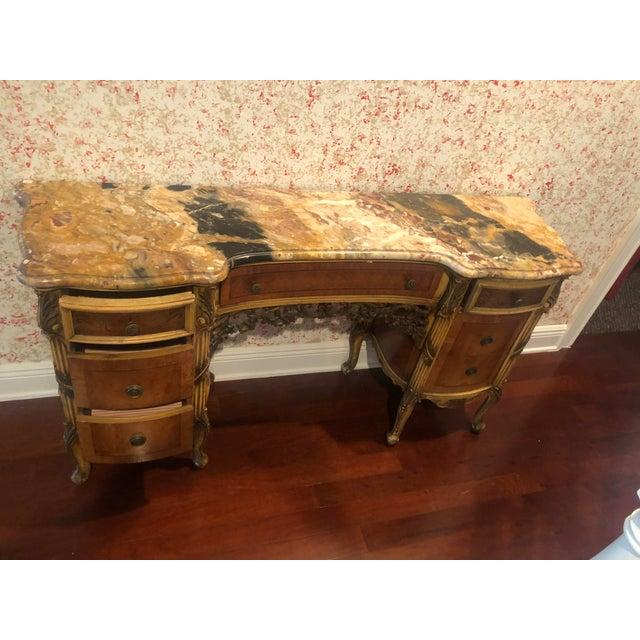 Antique Marble Top Vanity For Sale - Image 9 of 12