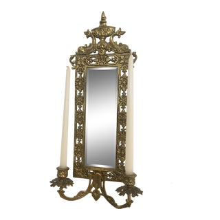 Vintage Brass Candle Sconce (Free Shipping) For Sale