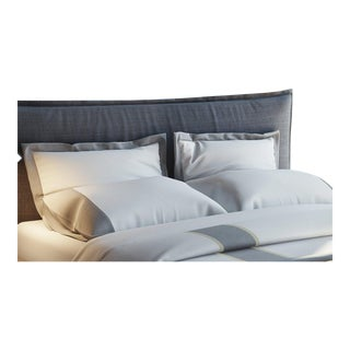 Monte Carlo Banded Pillowcases King - Graphite For Sale