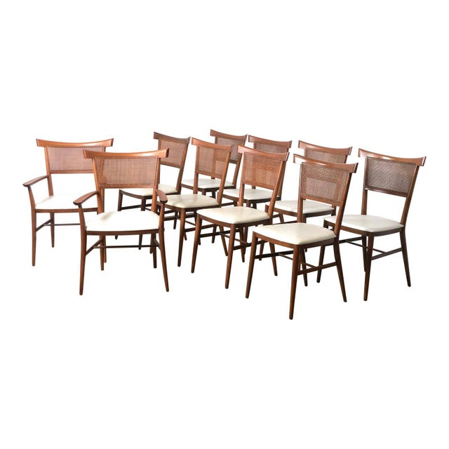Set of 10 Paul McCobb Cane Dining Chairs, Circa 1950's For Sale - Image 9 of 9