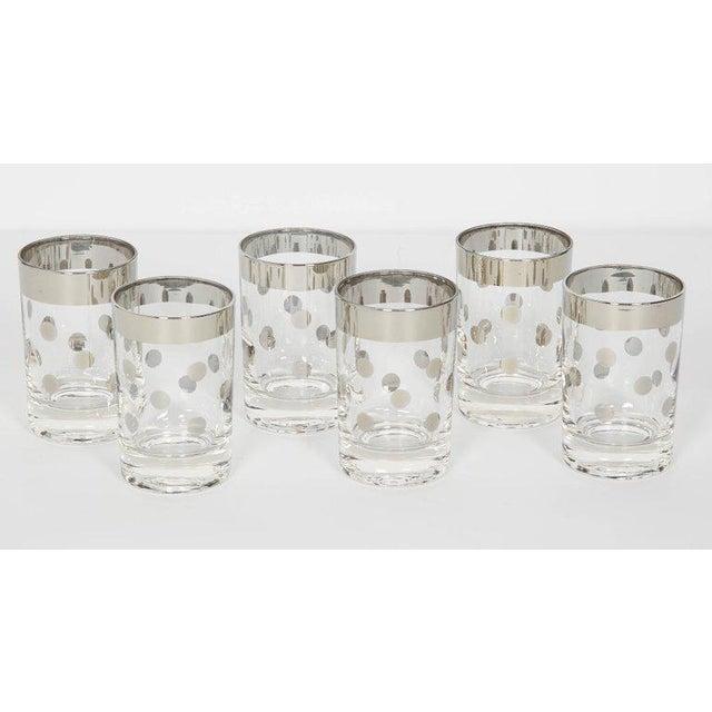 1960s Set of Six Vintage Silvered Liqueur Barware Glasses Designed by Dorothy Thorpe For Sale - Image 5 of 5