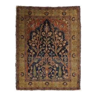 Antique Persian Wool Rug For Sale