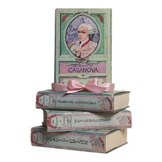 Vintage Pastel Book Gift Set: Memoirs of Casanova, S/4 For Sale