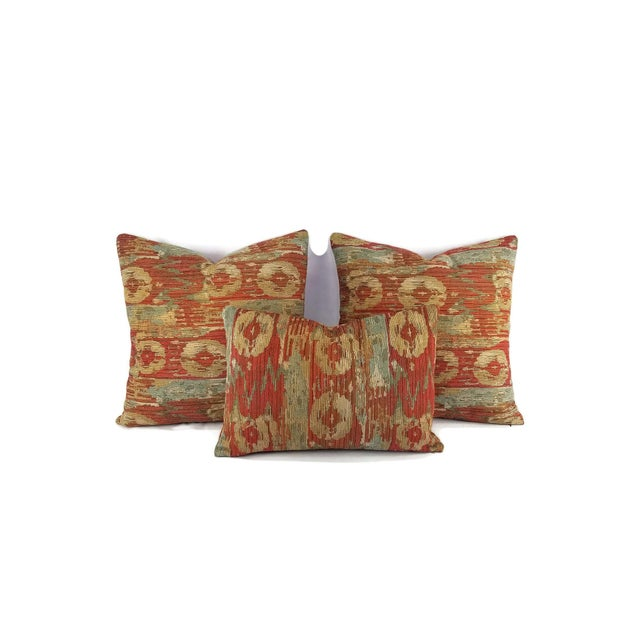 Pindler Palette Persimmon Chenille Pillow Cover For Sale - Image 4 of 6